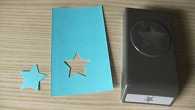 Stampin Up Paper Craft Punch ~ Medium Star Punch ~ A1