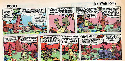 120 Pages Of 1968 Sundays Pogo, Lil Abner, Dick Tracy, Etc, Etc