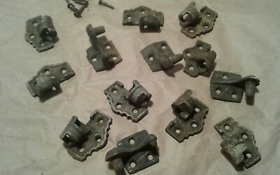 Antique Mix Lot Rare Heavy Wrought Iron? Shutter Hinges Cabinet Trunk Hardware