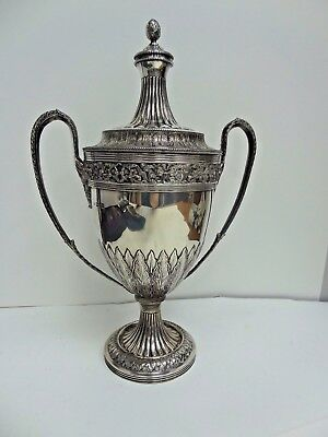 Lionel Alfred Crichton Sterling Silver Double Handled Covered Cup/Trophy