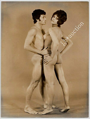 "NUDE DANCER COUPLE / NACKTES TÄNZER PAAR AKTFOTO * Vintage 60s French Photo ""L"""