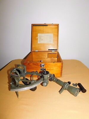 Vintage Ussr Russian Navy Sailor Ship Sextant Cho-M In Wood Box