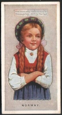 Norway Young Child  With Pop-Up Image 1920s Ad Trade Card Girl Scandinavia