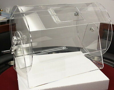 Large Size Clear Acrylic Raffle Drum holds up to 10000 Tickets