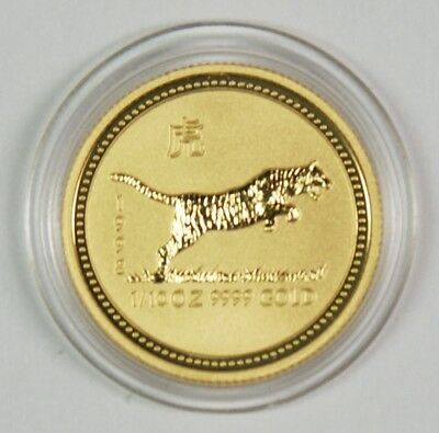 1998 $15 Australia 1/10 Oz. Gold Lunar Year of the Tiger Commemorative Coin