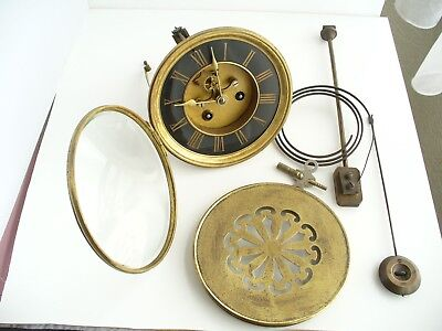 French Open Escapement Marti Bronze Chiming Clock Movement In Working Order.
