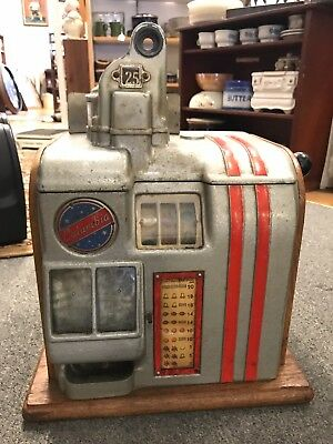 Columbia Slot Machine Antique 25 Quarter 1930's No Reserve
