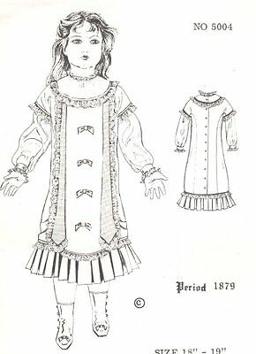 "18 - 19"" Period DOLL DRESS PATTERN Victorian German French"