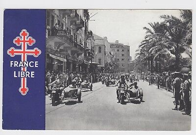 WW2 France Libre - Free French Postcard General de Gaulle in Beirut