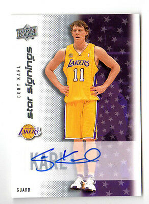 Coby Karl Nba 2008-09 Upper Deck Star Signings (L.a.lakers)