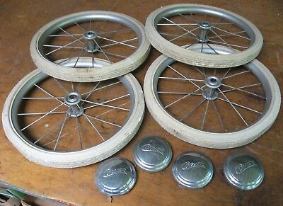 Collier Set of 4 Baby Carriage Buggy Wheels 12-in., Vintage