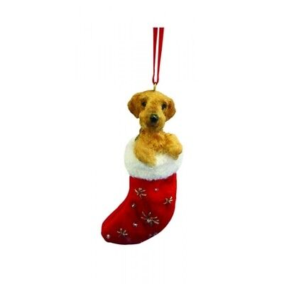 Airedale Dog Santa's Little Pals Stocking Christmas Ornament