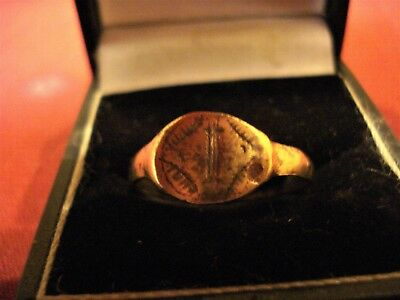 Roman / Byzantine Ring With 'star'--Detector Find