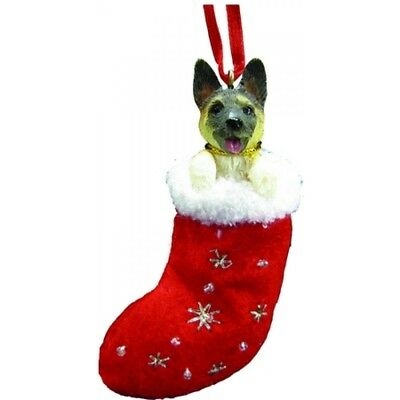Akita Dog Santa's Little Pals Stocking Christmas Ornament