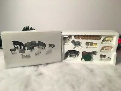 New Department 56 The Heritage Village Collection Farm Animals Set Of 8 #56588