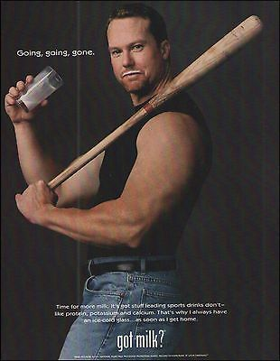 St. Louis Cardinals Mark McGwire 1998 Got Milk ? ad 8 x 11 advertisement print