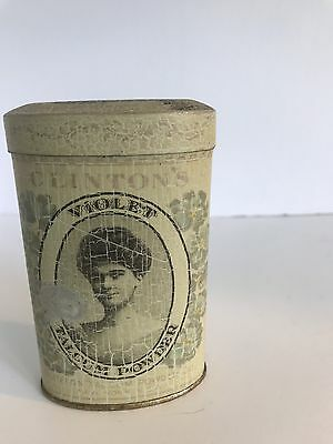 Clinton Violet Talcum Powder Co.  Old Tin Full