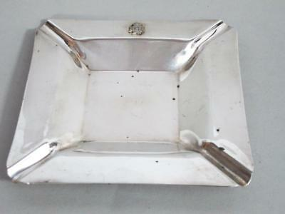 RHODESIA REGIMENT LARGE ART DECO SILVER PLATED ASHTRAY 1950s