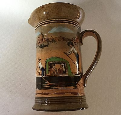 "Royal Doulton Venetian Gondola Scene 5"" Jug Tankard Pitcher Antique D3039 c1908"