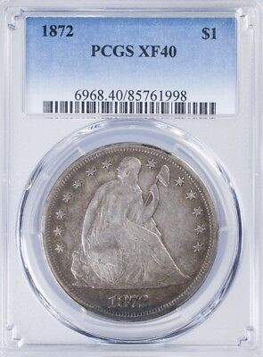 1872 Seated Liberty Dollar PCGS XF40