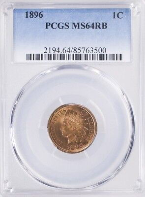 1896 Indian Head Cent PCGS MS64RB