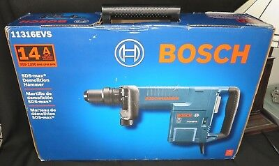 NEW  Bosch 11316EVS 14 Amp SDS-max Demolition Hammer Electric NEW W/Warranty