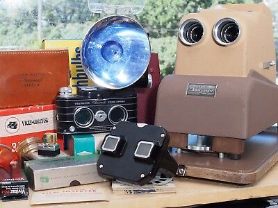 View-master Personal Stereo Camera Kit Viewmaster Stereo-matic 500 Projector 3-D