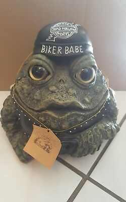 Toad Hollow Biker Babe Motorcycle Toad-Large! (2007) W/hangtag
