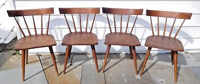 (4) Mid-Century Paul McCobb Planner Group Winchedon Wood Side Chairs - NICE!