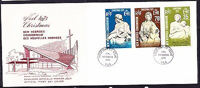 New Hebrides 1975 Christmas First Day Cover