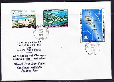 New Hebrides 1976 Constitutional Changes  First Day Cover