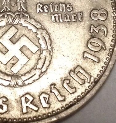 the rare '38-B SILVER German Ww2 Coin By Junk Drawer Lot Collection Old Antique