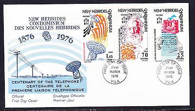 New Hebrides 1976 Centenary Telephone  First Day Cover