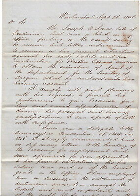 Peter G Washington 1848 Letter - Rescue Ship Amistad Slaves Named for Him