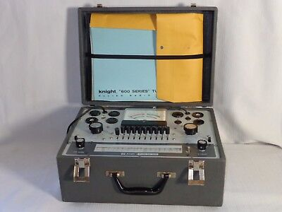 Vintage KNIGHT KIT Tube Tester KG-600B with Manuals