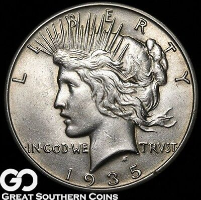 1935-S Peace Dollar, Tough This Nice, Smooth & Lustrous Solid Gem BU++, Free S/H