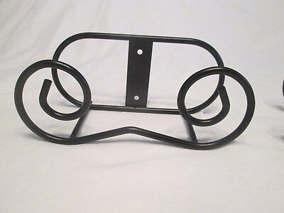 Unique Wrought Iron Scroll Plate Rack Hanger Wall Mount Holds Extra Large Plates