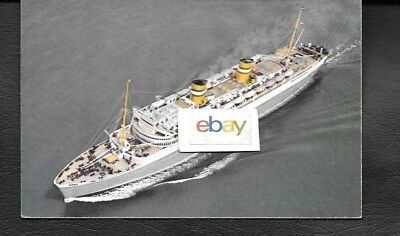 Holland America Line S.s. Nieuw Amsterdam Ship Issue 1950's Postcard