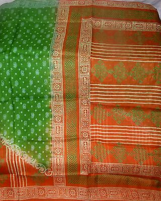 Very-Impressive-COLOR-Floral-Design-Vintage-PURE-Silk-Fabric-Sari-Saree