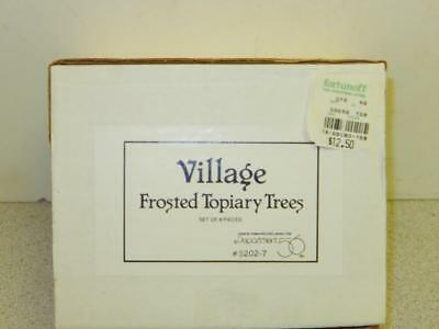 Department 56 -5202-7 Village Frosted Topiary Trees (Set Of 8) - - New--  L126