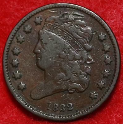 1832 Philadelphia Mint Copper Classic Head Half Cent Free Shipping