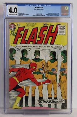 Flash #105 - CGC 4.0 VG - DC 1959 - 1st App & ORIGIN of Mirror Master!!!