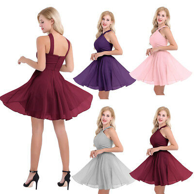 Womens Formal Wedding Bridesmaid Short Evening Party Prom Gown Cocktail Dress