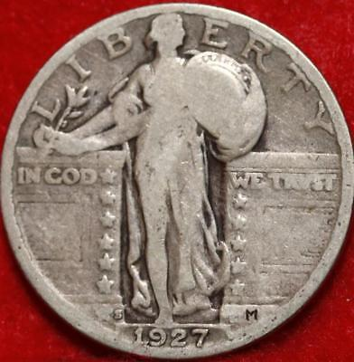 1927-S San Francisco Mint Silver Standing Liberty Quarter Free Shipping