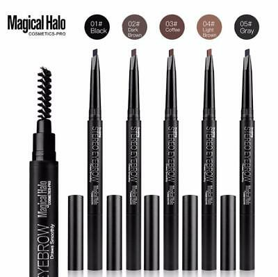 Waterproof Eye Brow Eyeliner Eyebrow Pen Pencil With Brush Makeup Cosmetic Set