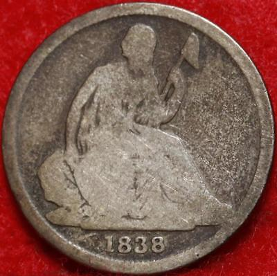 1838-O New Orleans Mint Silver Seated Liberty Dime Free Shipping