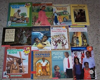 Lot of 12 Children's African American Chapter Books VGC