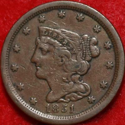 1851 Philadelphia Mint Copper Classic Head Half Cent Free Shipping