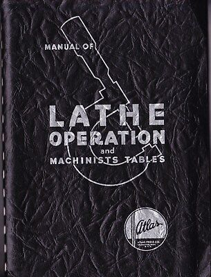 1937 Lathe Operation And Machinists Tables: Atlas