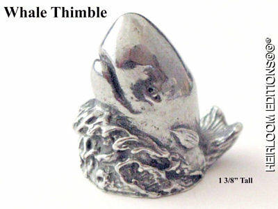 Whale Thimble Usa Pewter